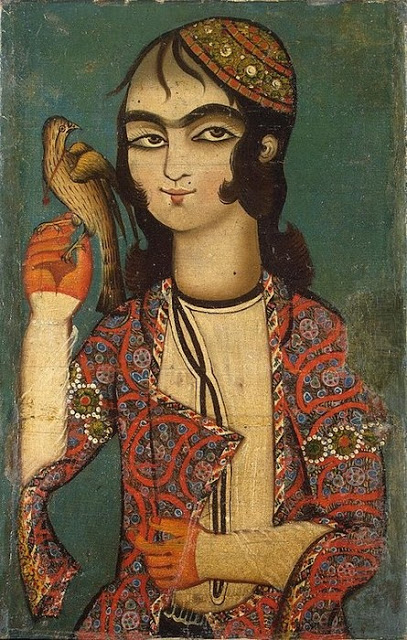 Boy_Holding_a_Falcon,_Qajar_Dynasty_(18th_century).jpg