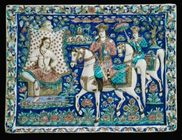 Qajar tile, Persia, 19th century.jpg